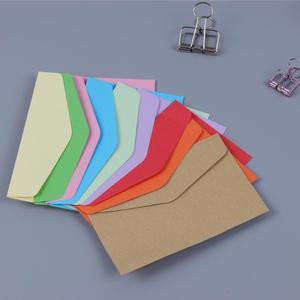 Image 4 - 200pcs/lot 115*80mm New Cute Vintage Candy color series DIY Multifunction Mini envelope set wholesale