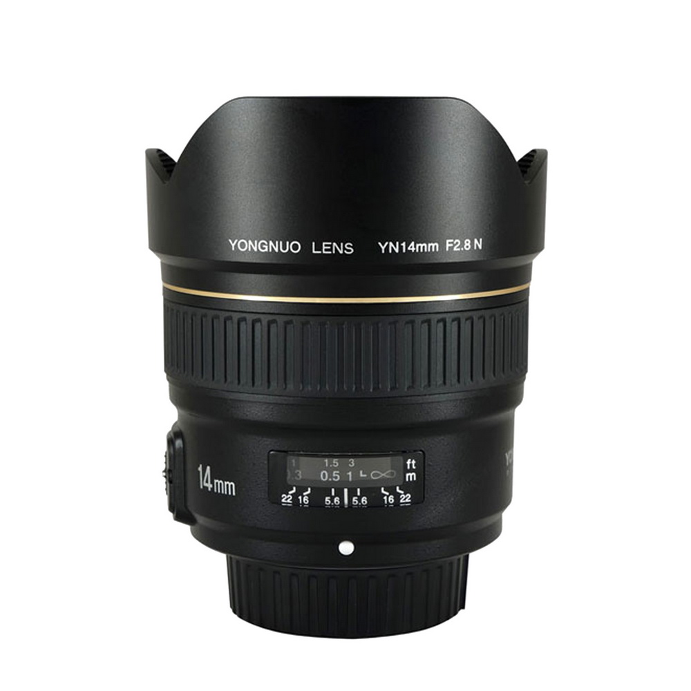 New Yongnuo Lens YN14mm F2.8 AF MF autofocus Ultra-wide Anglr Prime Lens for Canon 5D Mark III IV 6D <font><b>700D</b></font> 80D 70D Camera image