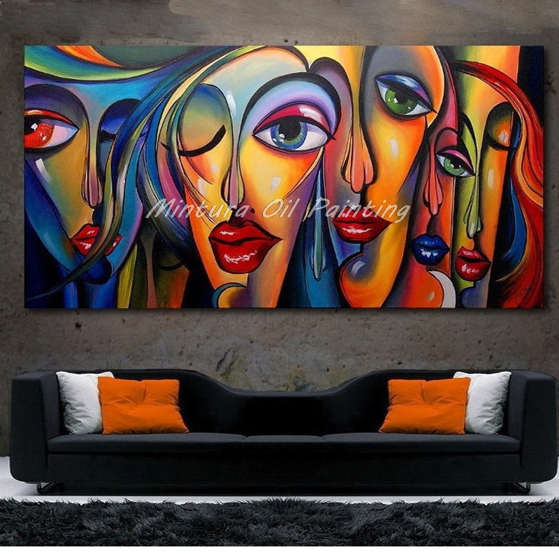 Arthyx Hand Painted People Sex Girl Oil Paintings On Canvas Modern Posters Pop Art Wall Picture For Livingt Room Home Decoration
