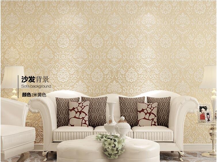 3D European Living Room Wallpaper Bedroom Sofa TV Backgroumd of Wall Paper Roll 10M Non-woven Fabric Paper blue earth cosmic sky zenith living room ceiling murals 3d wallpaper the living room bedroom study paper 3d wallpaper