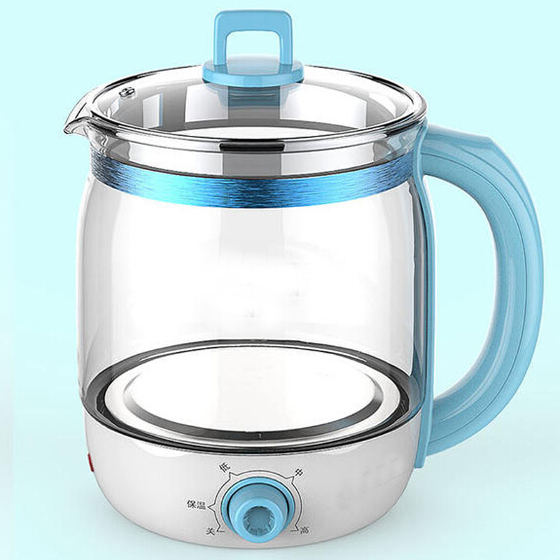 VOSOCO Electric kettle Health preserving pot Multifunctional teapot tea pot 1.5L 800W boiled split glass health pot water bottle electric kettle health care cup electric hot mini glass health pot office smart water brew teapot
