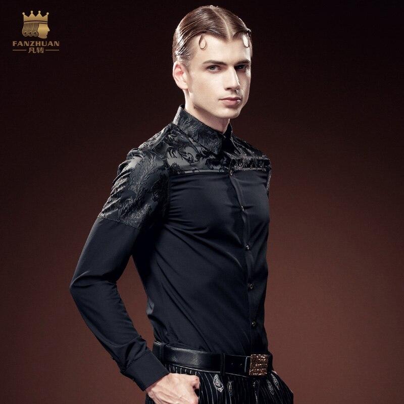Ücretsiz kargo yeni erkek erkek moda rahat Gençlik Parti koyu - Erkek Giyim - Fotoğraf 4
