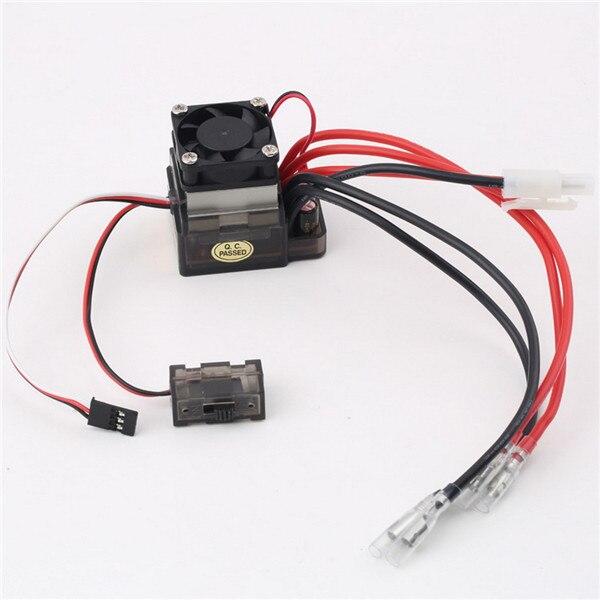OCDAY 1 unid 7,2 V-16 V 320A High Voltage ESC Brushed regulador de la velocidad RC del carro del coche Buggy barco nueva venta