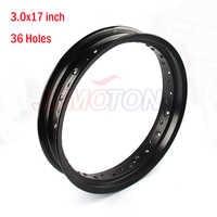 Black Pit bike Rims Hub Ring 3.0x17