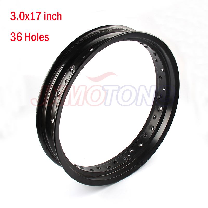 Black Pit bike Rims Hub Ring 3.0x17inch aluminum for KTM CRF Kayo BSE dirt bike 36H Wheels Circle pit bike Apollo spare parts