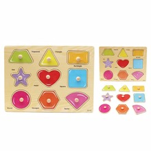 лучшая цена Children Puzzle Toys Baby Hand Grasp Wooden Alphabet Numbers Learning Kids Early Educational Wood Jigsaw Toy Gift YJS Dropship