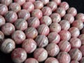 Free Shipping (16 beads/set/53g) low price natural rhodochrosite  12.5mm smooth round  loose beads stone wholesale