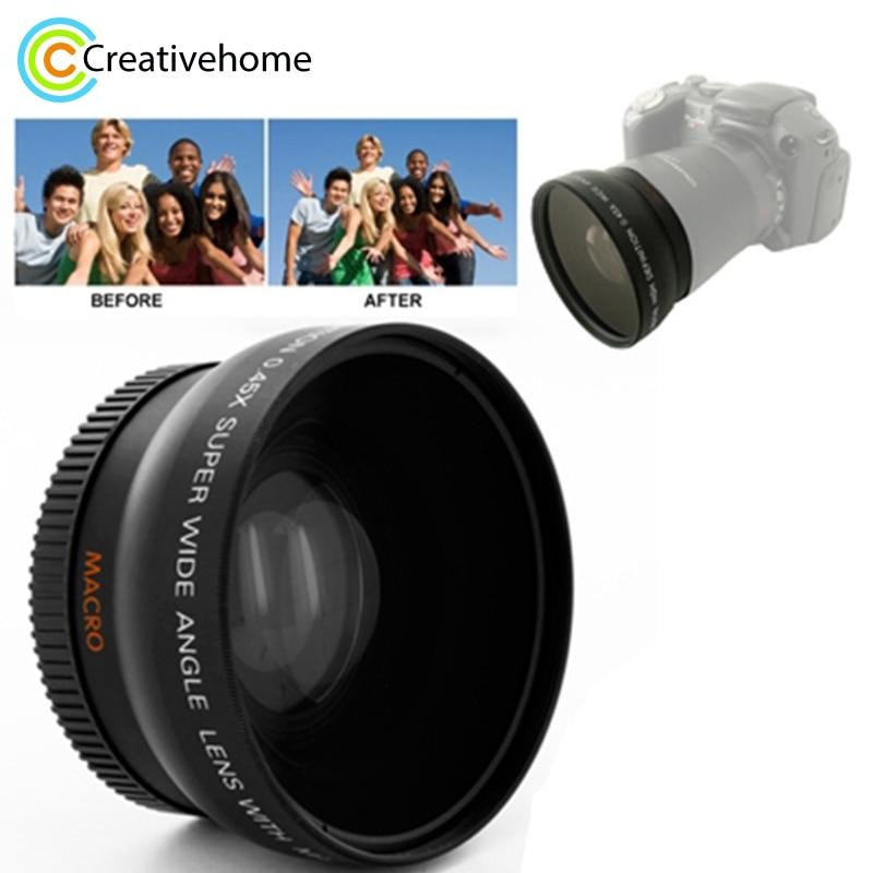Marque Nouvelle 0.45X52mm Objectif Grand Angle avec Macro pour Nikon Coolpix D40/D60/D70s/ d3000/D3100/D5000