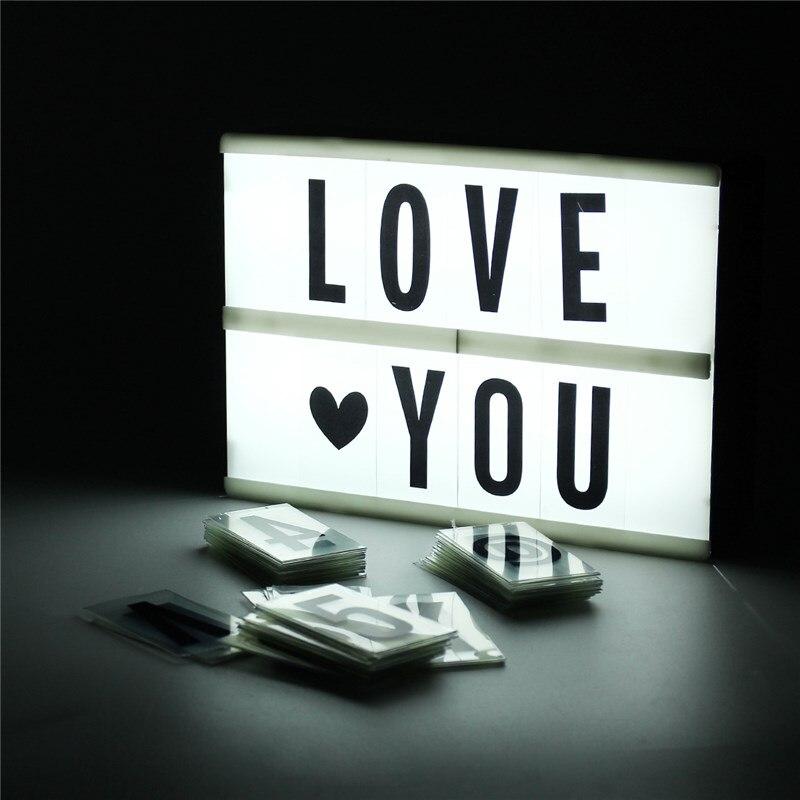 diy a5 cinematic light box 90 letters cinema led letter. Black Bedroom Furniture Sets. Home Design Ideas