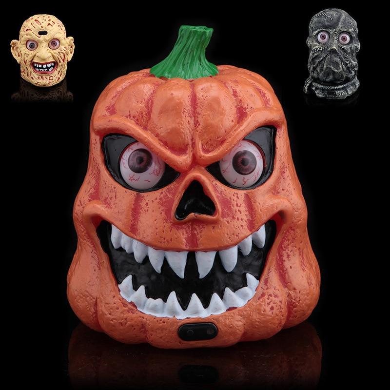 Halloween Bars Masquerade Supplies Sound Control Induction Ghosts Pumpkin Lights Party Decoration 434g bars шорты