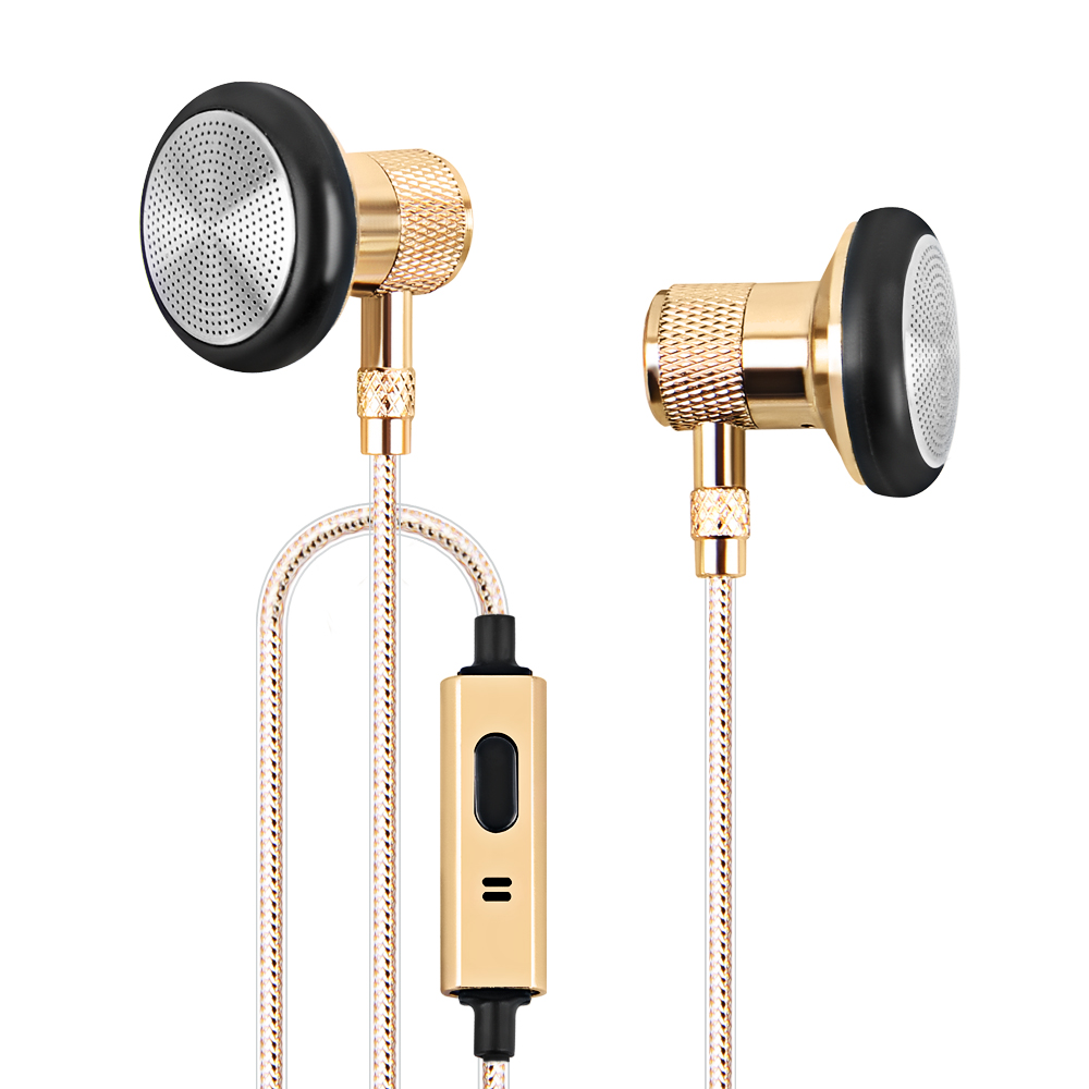 Metal Earphone Super Bass Headset With Mic Earbuds HIFI Stereo 3 5mm Subwoofer Sound Music Earphones