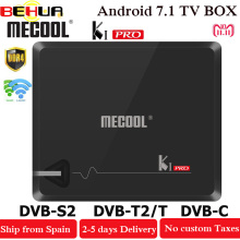 MECOOL KI PRO TV Box KI PRO S2+T2 DVB Amlogic S905D Quad 2G+16G Support DVB-T2&S2/DVB-T2/DVBS2 Set Top Box Android TV Box