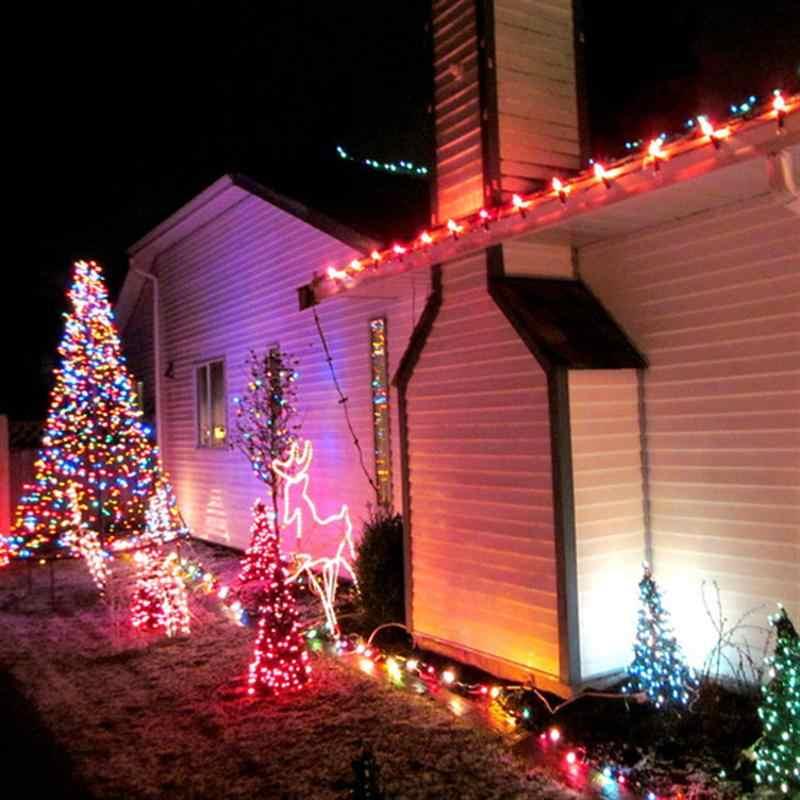 10 м 110 в 100-светодиодный 8-Mode светодиодный Рождественский гирлянда светодиодный гирлянды сказочные рождественские вечерние садовые свадебные декоративные шторы