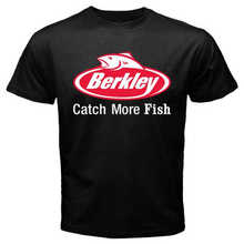 Nouveau Berkley Fishings Logo Spinners manivelle hommes T-Shirt noir taille S-3XL(China)