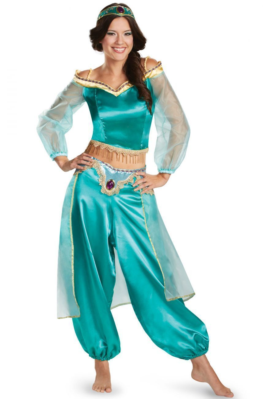 Halloween Aladdin Princess Jasmine Adult Kid Suit Cosplay Dress Costume Green Carnaval Costume Cosplay Women Costume