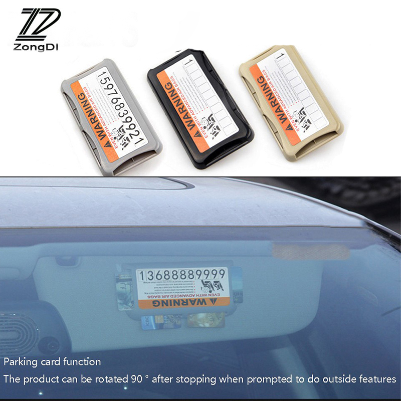ZD For Ford Focus 2 3 Fiesta Mondeo Ranger Kuga Seat Leon Ibiza Lexus Car Sun Shade Visor Phone Number Parking Card Sticker Clip