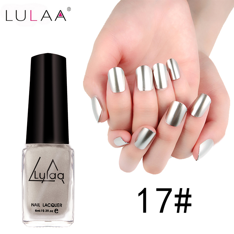 Very Me Metallic Nail Polish Shades: Aliexpress.com : Buy LULAA 5 Colors Metallic Nail Polish