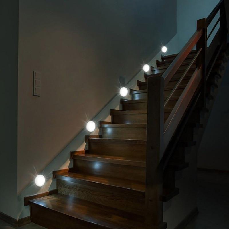 Portable Wall Lights: Creative LED Night Light Sensor Human Body Induction Night