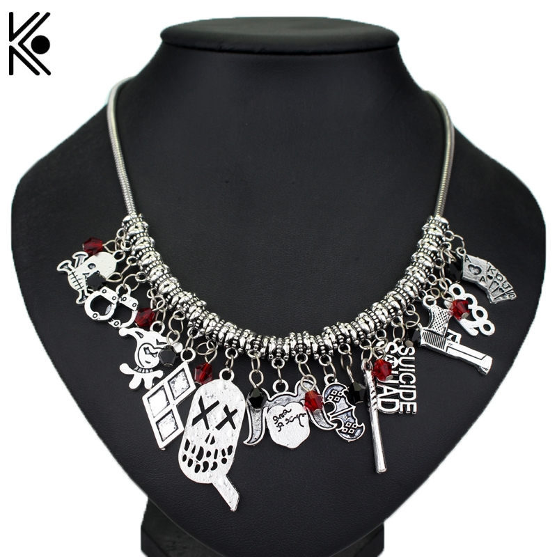 Harley quinn charn choker suicide squad collar necklace for Harley quinn and joker jewelry