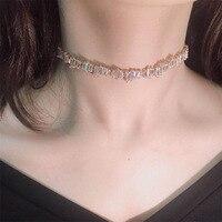 3a1438fafaa6 Handmade Irregular Crystasl Zircon Short Chain Choker Necklaces For Women S  Fashion