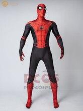 Disfraz de cosplay de araña con estampado 3D de Peter Parker, disfraz de cosplay lejos de casa para hombre mp004588