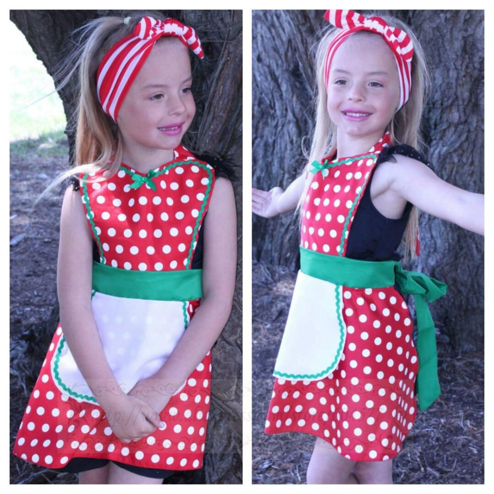 Apron Costumes Christmas-Party Cosplay Xmas-Girls Kids Womens for And