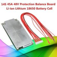 1 PC 14 S 45A 48 V Li ion Lithium 18650 batterie cellule BMS PCB Protection Balance Circuits intégrés carte