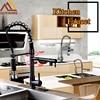 Chrome Black Spring Pull Down Kitchen Faucet Dual Spouts 360 Swivel Handheld Shower Kitchen Mixer Tap