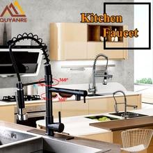Кухонный кран Весна 360 Вращение двойной носики кухня кран Однорычажный бортике смесители на бортике коснитесь