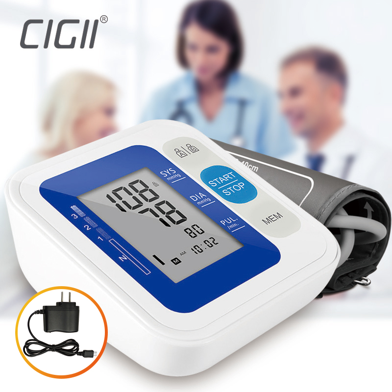 Cigii Digital Upper Arm Blood Pressure Pulse Monitors Portable tonometer Health care Heart rate monitor