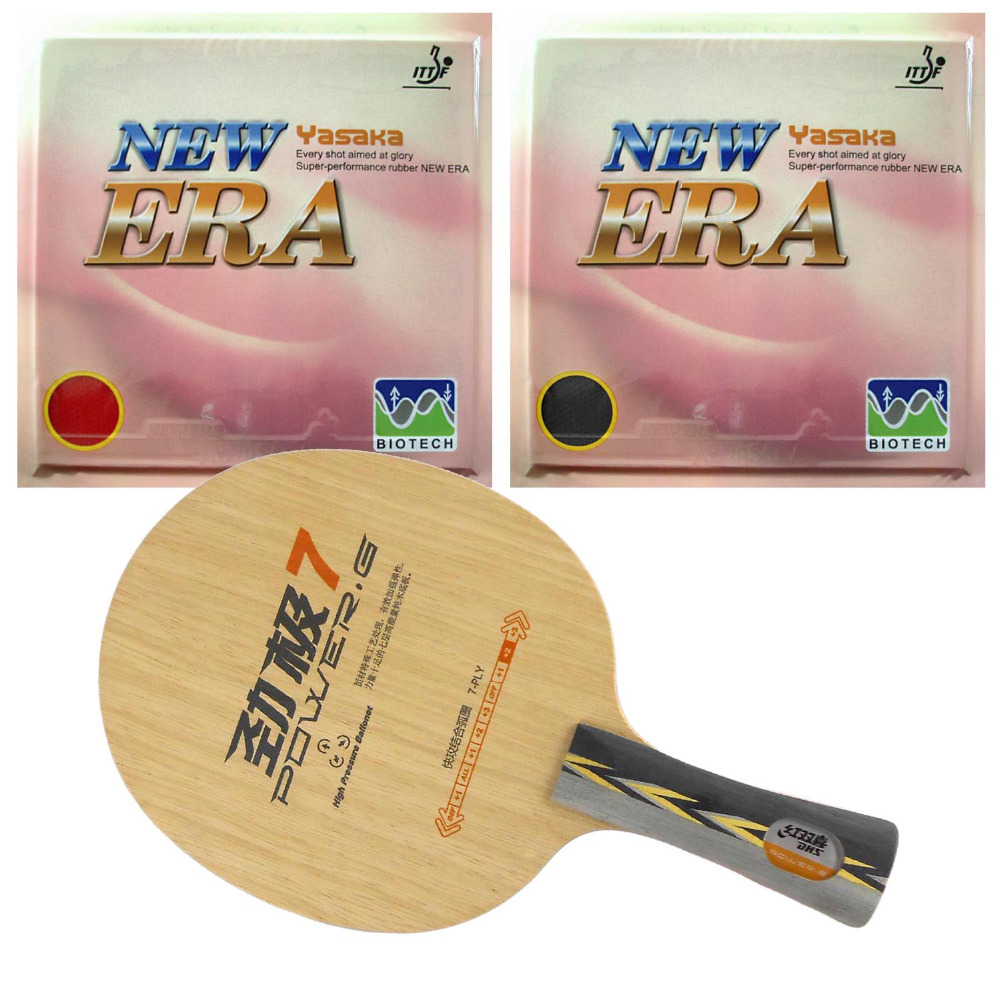 DHS POWER.G7 PG.7 PG7 Blade with 2x Yasaka NEW ERA 40mm NO ITTF Rubbers for a Table Tennis Combo Racket FL galaxy yinhe t 11 blade with yasaka zap 40mm no ittf and ritc729 transcend cream rubbers for a table tennis combo racket fl