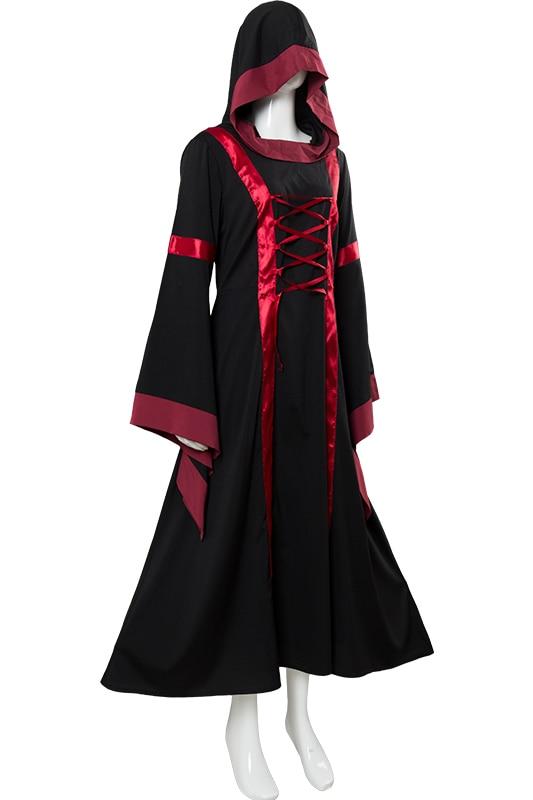 Renaissance Costume Adult Women Medieval Dresses Victorian Dress Vintage Long Sleeve Renaissance Dress Halloween Clothing