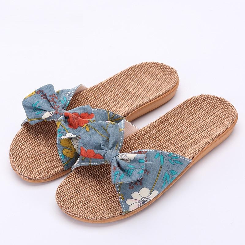 9262bc8da8f779 Women Slides 2018 Fashion Slippers Flip Flops Female Sandals Summer Casual  Beach Slides Bow Sandals Comfortable Slippers Women-in Slippers from Shoes  on ...