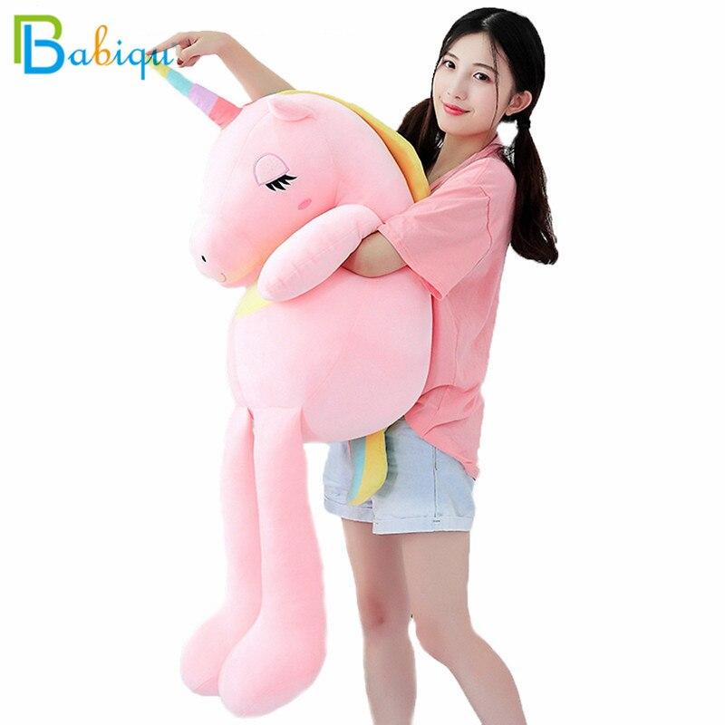 1pc 60-160cm New Large Soft Unicorn Animal Plush Toy Stuffed Toy Girl Gift Children's Toy Sofa Pillow Cushion Home Decoration