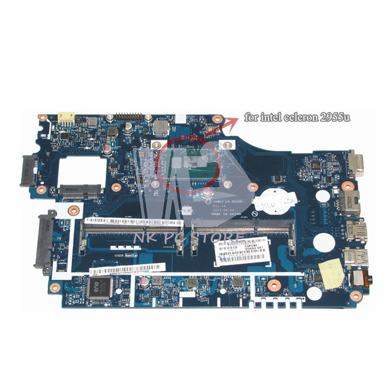 NOKOTION NB.MFM11.00A NBMFM1100A Main Board For Acer aspire E1-532 E1-532P Laptop Motherboard V5WE2 LA-9532P DDR3L new hair curler steam spray automatic hair curlers digital hair curling iron professional curlers hair styling tools 110 240v