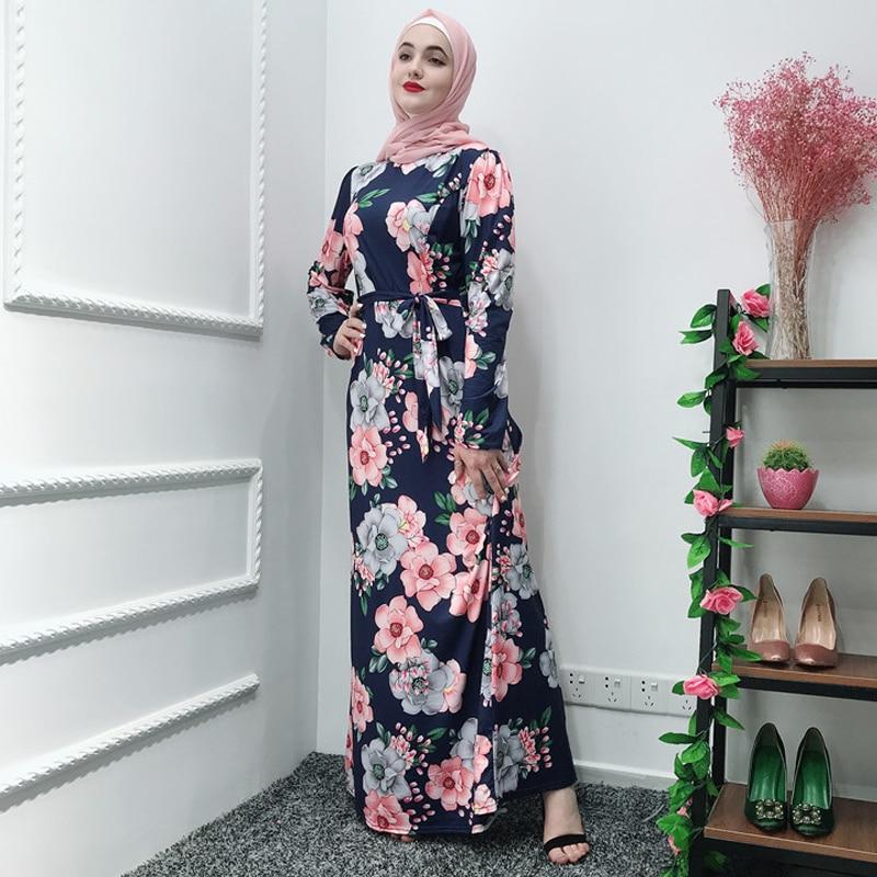 Vestidos Ramadan Kaftan Abaya Arabic Islamic Muslim Maxi Dress Caftan Elbise Hijab Eid Dresses Qatar Robe Femme Musulmane Longue