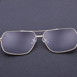 Image 5 - 2019 High Quality Square Sunglasses Men Polarized UV400 Sport Sun Glasses For Male Driving Gold Frame Retro oculos With Box