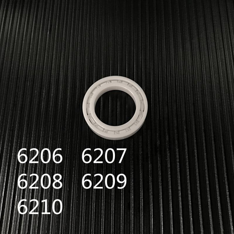 2018 Hot Free Shipping Zro2 Zro2 6206 6207 6208 6209 6210 Full Zro2 Ceramic Ball Bearing Zirconia Bearing free shipping 4pcs 698 8x19x6mm high quality full zro2 ceramic ball bearing zirconia bearing 8 19 6mm factory sales