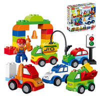 52pcs Legoings Duplo Creative Cars Variety of Car Story Building Blocks Traffic Building Bricks Educational Toys For Children