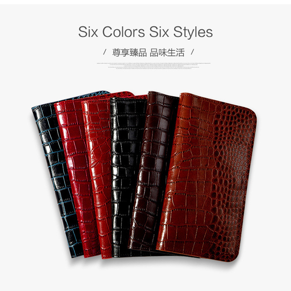 Flip Genuine Leather case For Redmi Note 4 plus phone case Crocodile skin Wallet Bag Note4 Plus 6a 8 A2 lite Max 3 Mix handbag