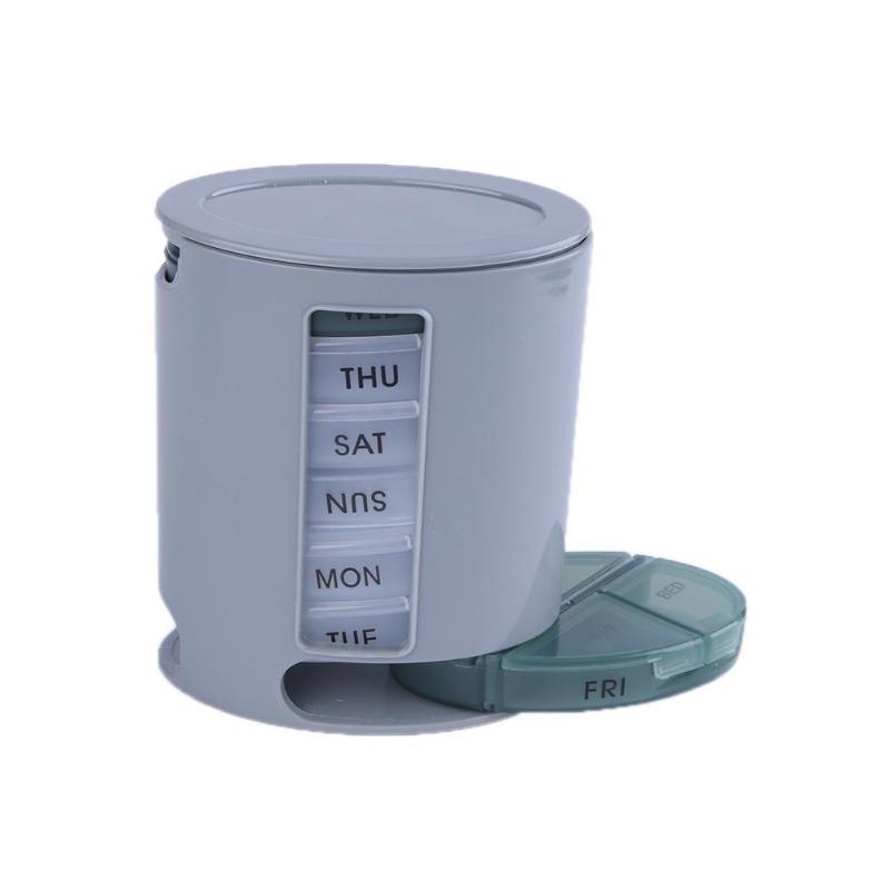 7 días organizador de píldoras caja de almacenamiento semanal compacto Mini tableta clasificador caja medicina píldora organizador para herramientas de cuidado de la salud