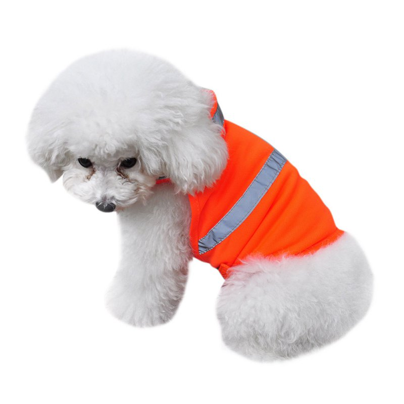 Pets Fluorescent Security Dog Reflective Waterproof Vest Clothes