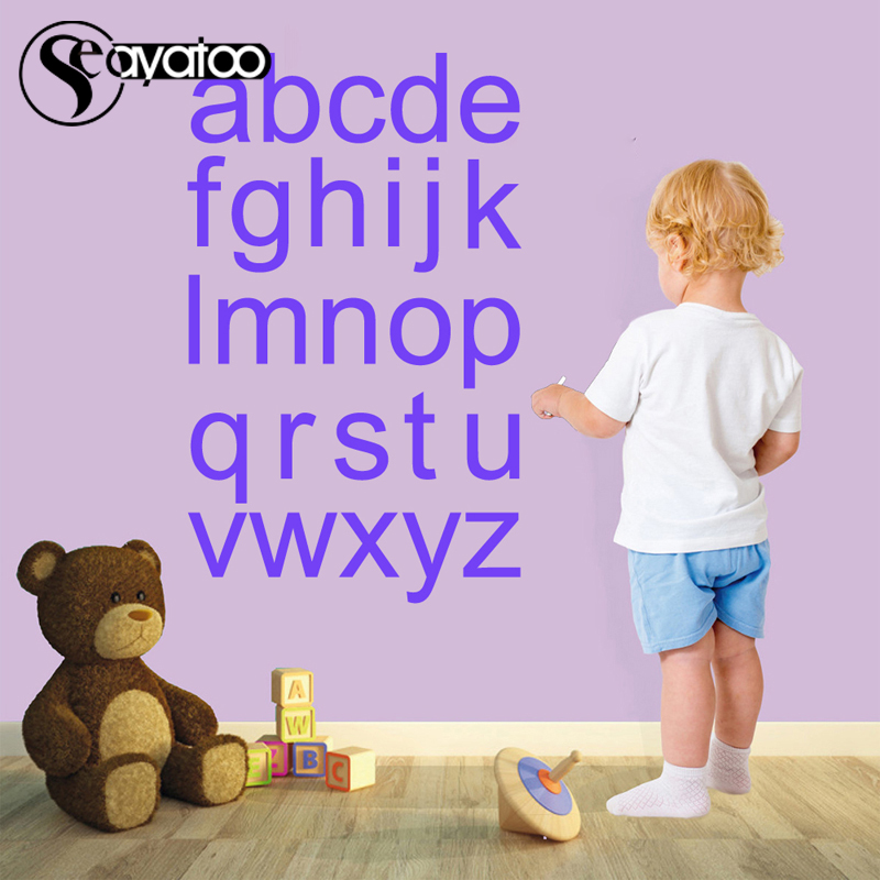A Z English Alphabet Letters Vinyl Wall Decal Sticker Kids