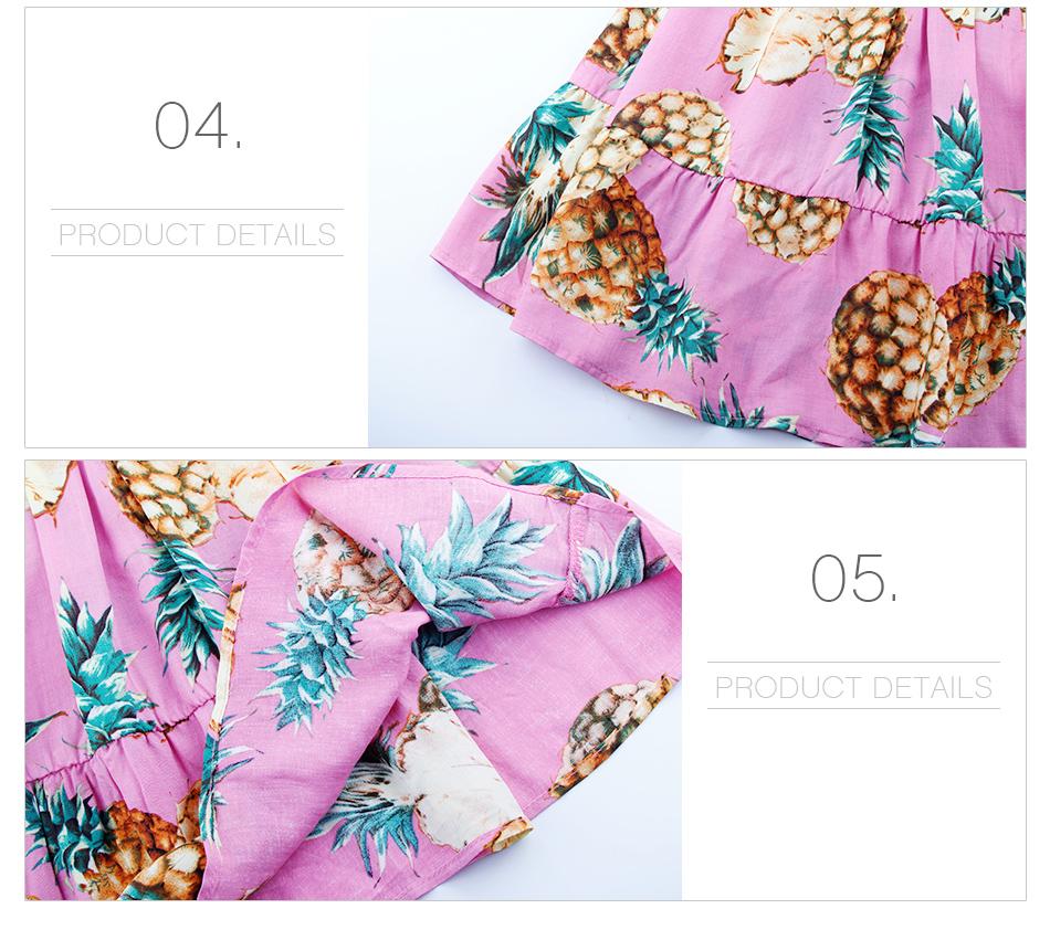 HTB1SmgSphSYBuNjSspjq6x73VXaP - 2 PCS/Set Summer Baby Girls Clothing Set Pineapple Print Off Shoulder Top+Skirt Ruffle Girls Dress Beach Sundress Robe Fille