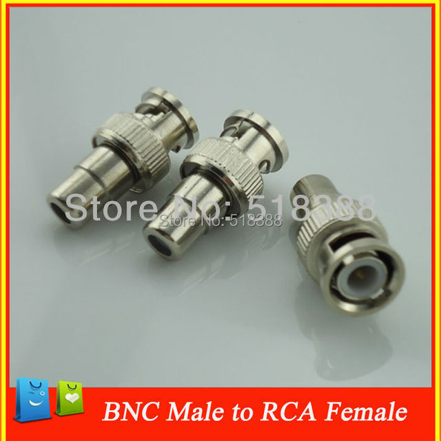 10pcs Security video surveillance BNC Male to RCA Female Coax Cable DC power jack Connector Adapter F/M Coupler for CCTV Camera
