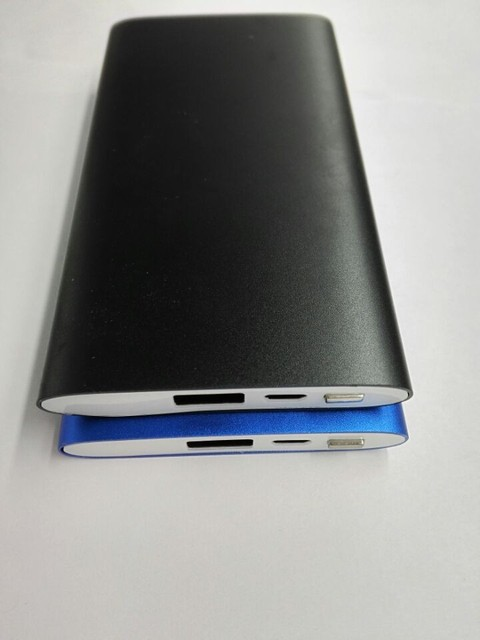 Multifunções caixa de metal 6000 mah usb portátil mini banco de potência fina