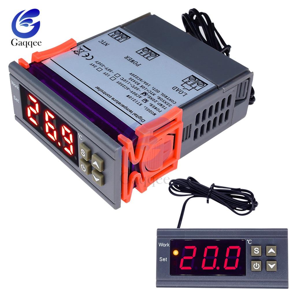 MH1210W 90-250V 10A 110V 220V Digital Temperature Thermostat Regulator Controller -50~110 Celsius Heat Cool Control NTC Sensor