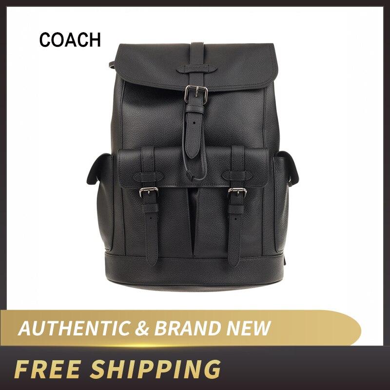 Coach F36811 sac à dos en cuir lisse naturel Hudson pour homme