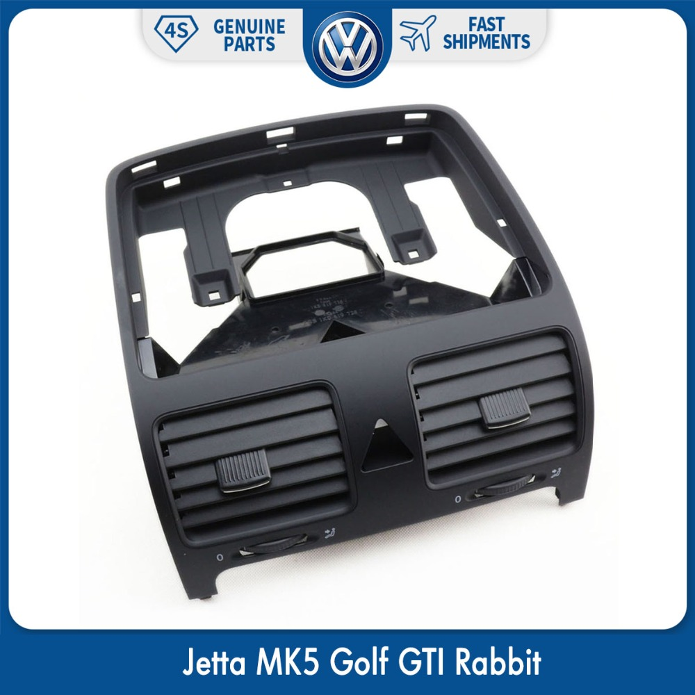 OEM Dashboard Air Vent Front Dash A/C Heater Vent Outlet for VW Volkswagen Jetta MK5 Golf GTI Rabbit 1K0819728J 1KD 819 728 1QB new oem vw jetta golf mk5 gti rabbit front fog lights lamps 1t0941699 1t0941700 2005 2009