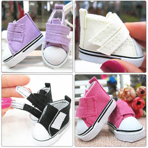 5cm-7.5cm Doll Shoes Denim Sneakers For Dolls Fashion Denim Canvas Mini Toy Shoes 1/6